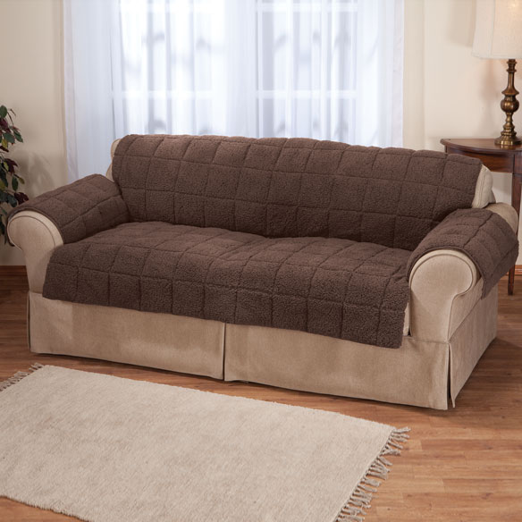 Waterproof Quilted Sherpa Sofa Protector by OakRidge Comforts™