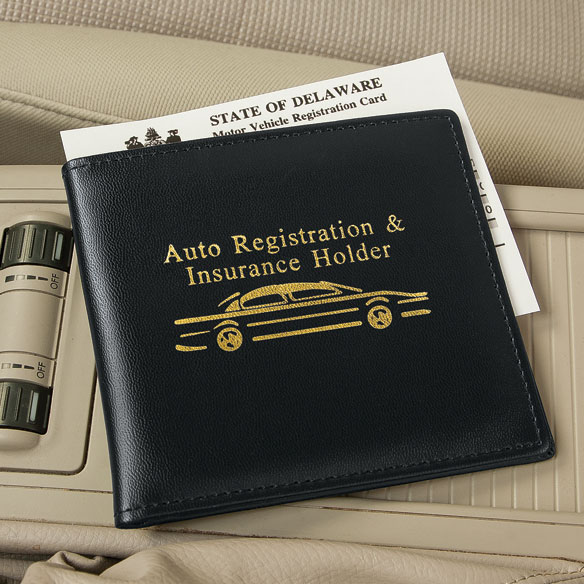 Auto Registration and Insurance Holder - View 1