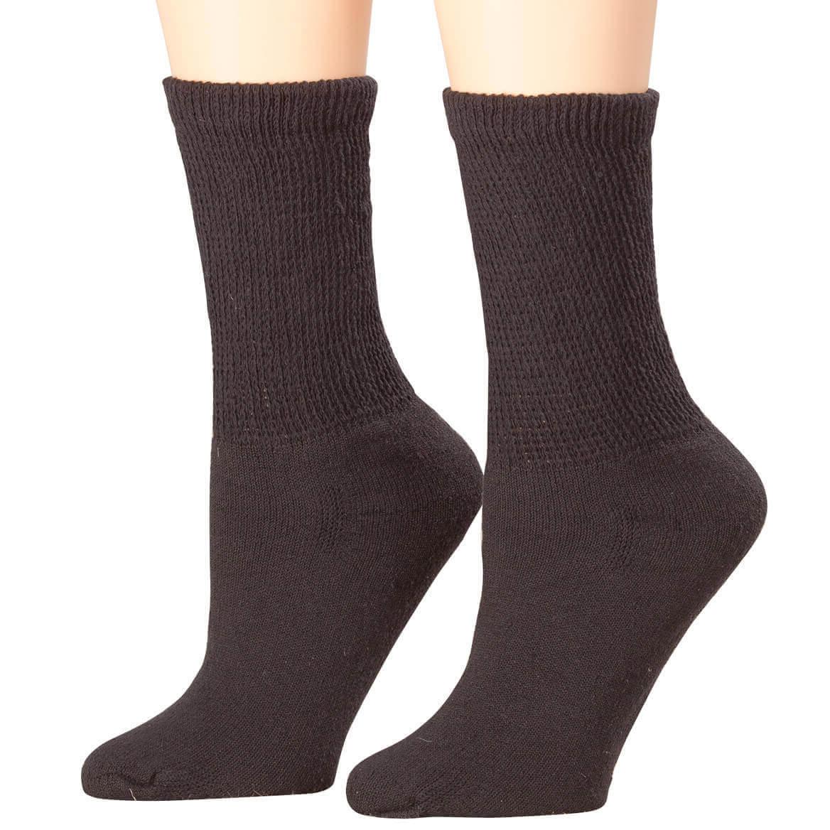 61040a943f Healthy Steps 3-Pack Diabetic Socks - Crew Socks - Miles Kimball
