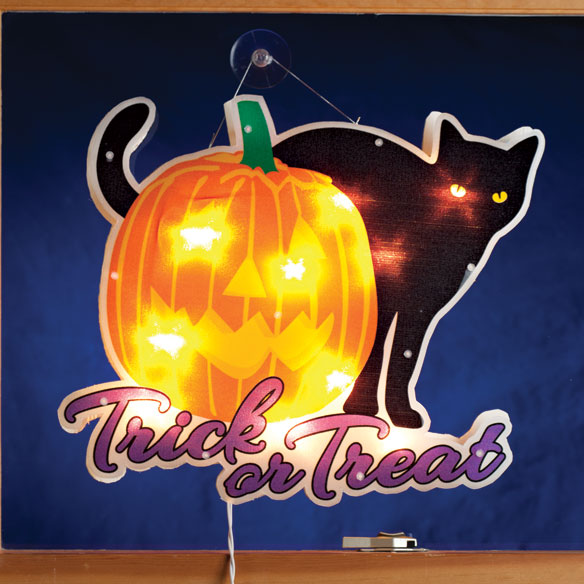 Trick or Treat Black Cat Shimmer Light by Northwoods Illuminations™