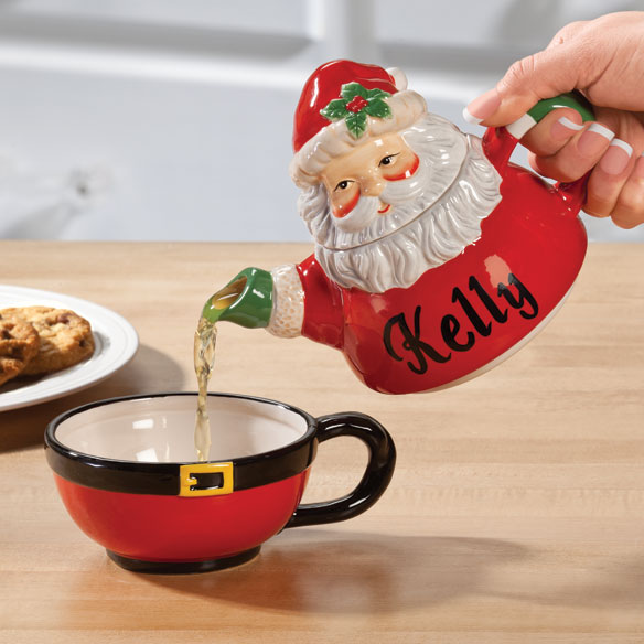 Personalized Santa Teapot for One