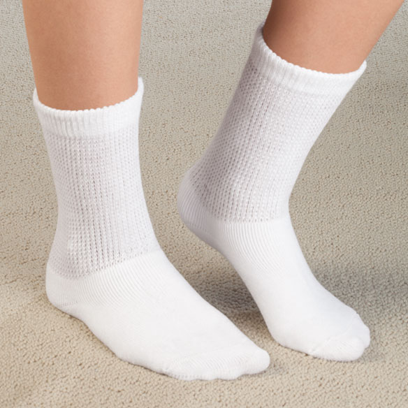 Healthy Steps™ Extra Plush Diabetic Socks - 3 Pack - View 1