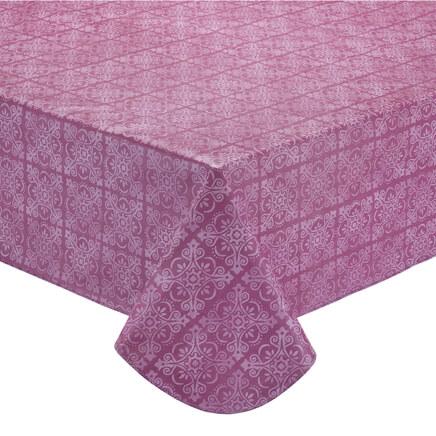 tonal medallion vinyl table cover352316