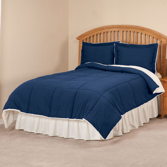 Sherpa Lined Alternative Down Comforter with Shams by OakRidge Comforts™