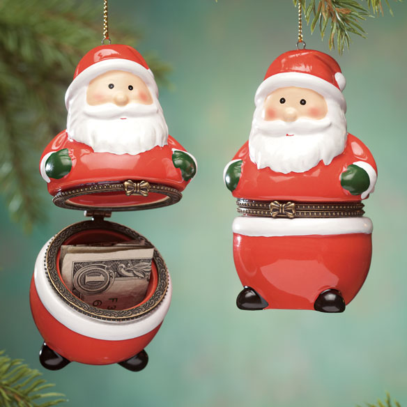 Santa Trinket Box Ornament