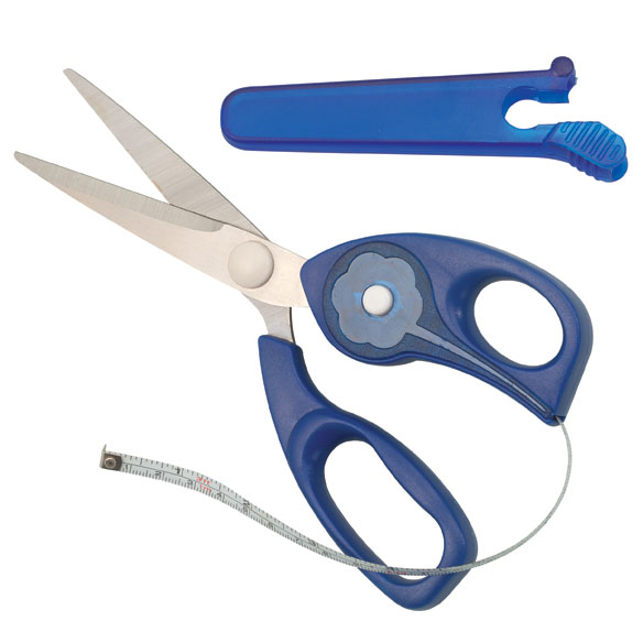 2-in-1 Scissors with Measuring Tape