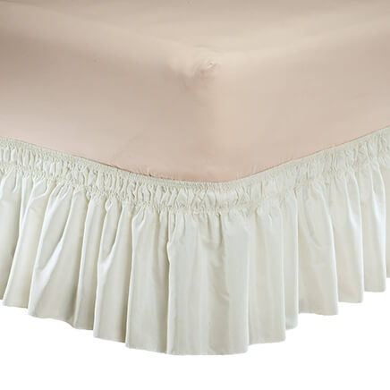 solid wrap around elastic bed skirt by oakridge