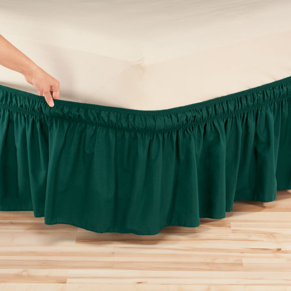 Solid Wrap Around Elastic Bed Skirt by OakRidge Comforts™