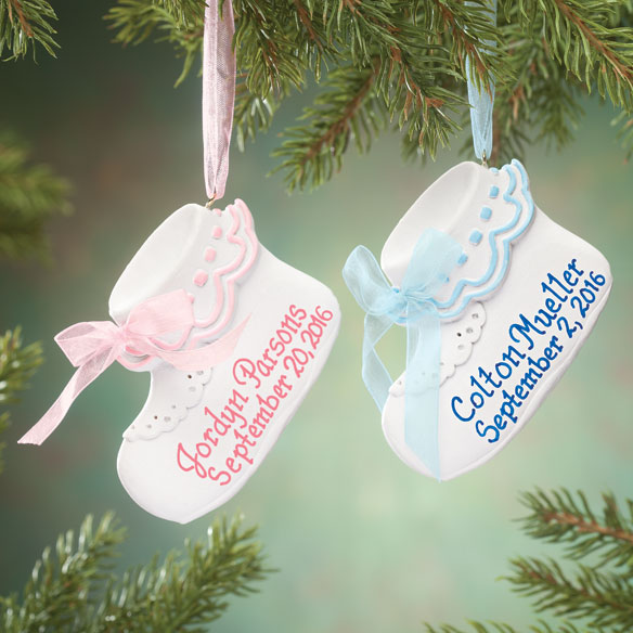 Personalized Baby Bootie Ornament