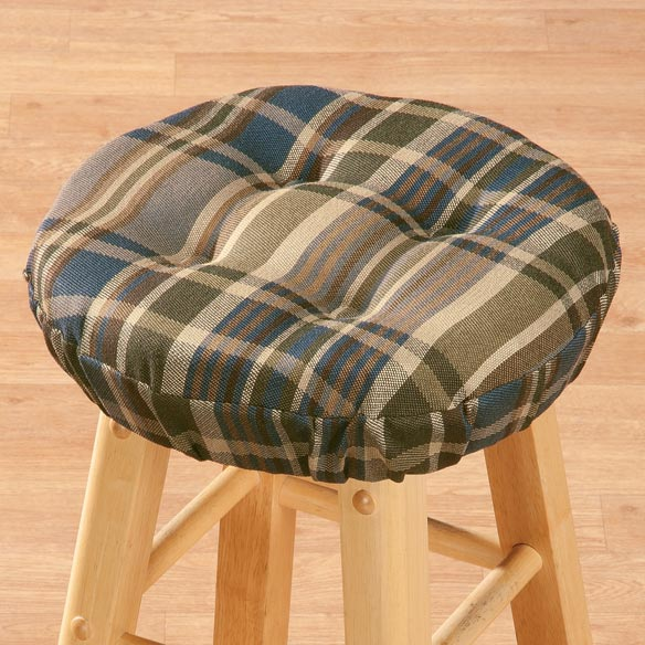 Plaid Bar Stool Cushion