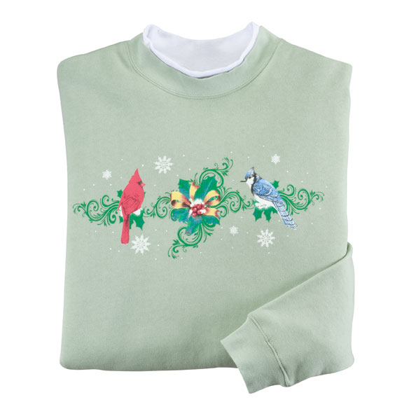Holiday Birds Sweatshirt