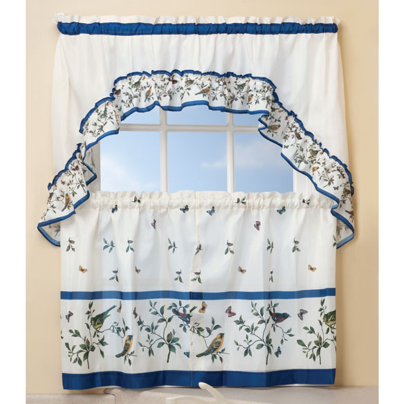 Love Birds Kitchen Curtain & Swag 3-pc. Set