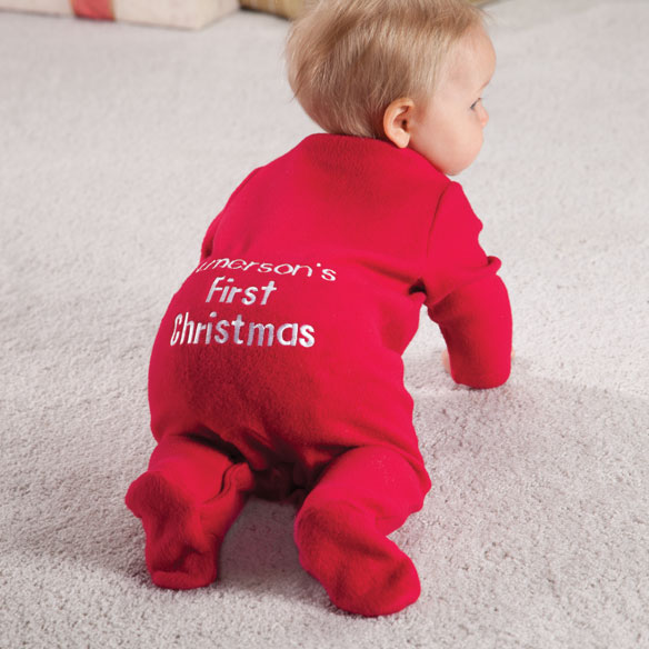 Personalized First Christmas Long Johns