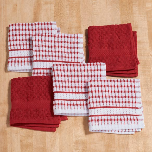 Terry Kitchen Dish Cloths, Set of 6