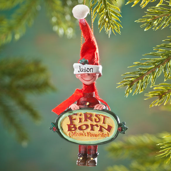 Mom's Favorite First Child Ornament