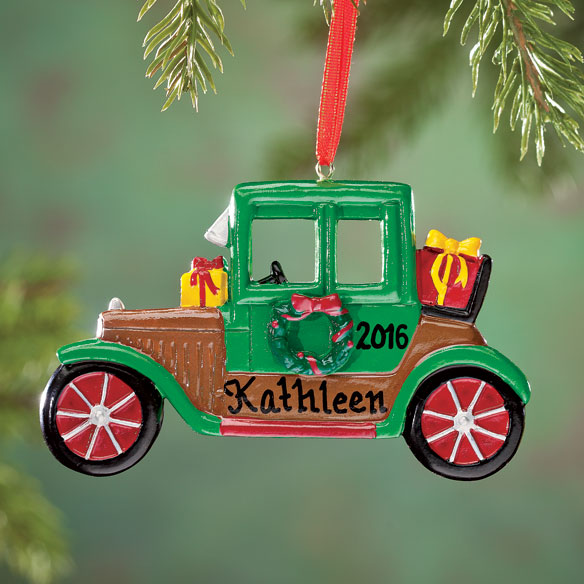 Personalized Antique Car Ornament - View 1