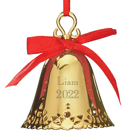 Personalized Silver Bell Ornament Engraved - Christmas - Miles Kimball