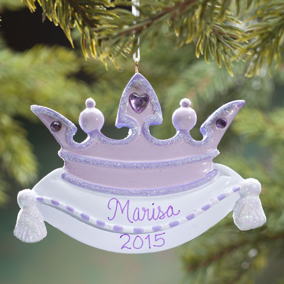 Personalized Purple Crown Ornament