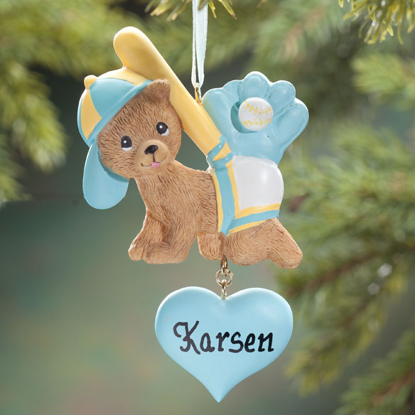 Personalized Sports Bear Ornament
