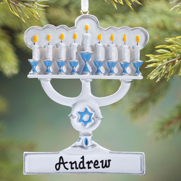 Personalized Menorah Ornament