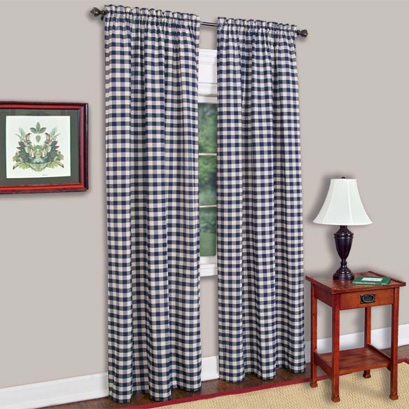 Buffalo Check Decorative Window Panel