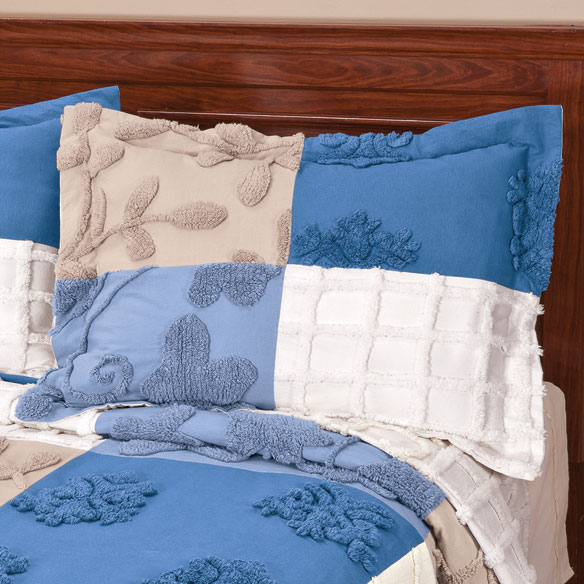 Patchwork Chenille Pillow Sham