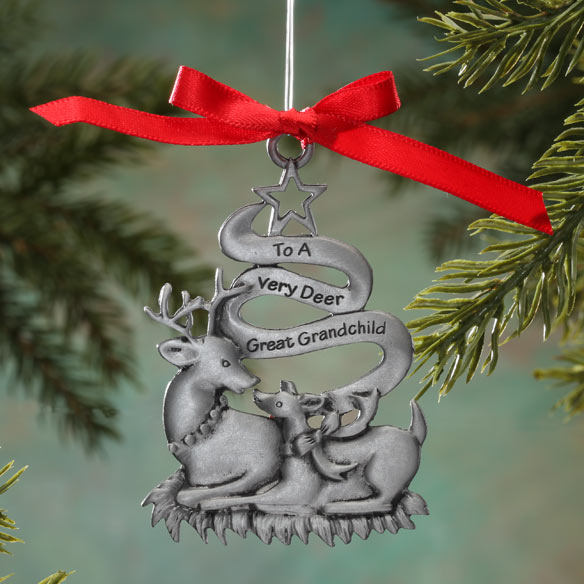 Very Dear Great Grandchild Pewter Ornament