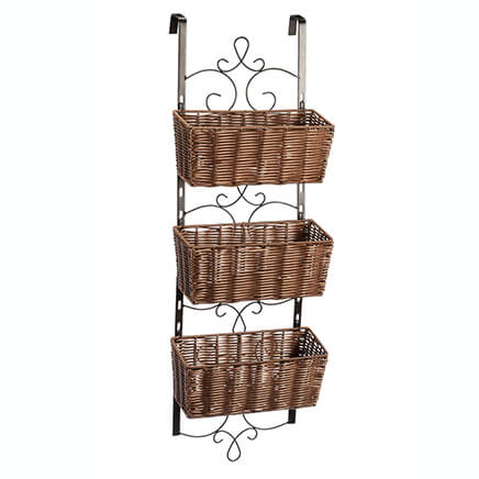 Over The Door Wicker U0026 Metal Baskets By OakRidge™ Accents 353924