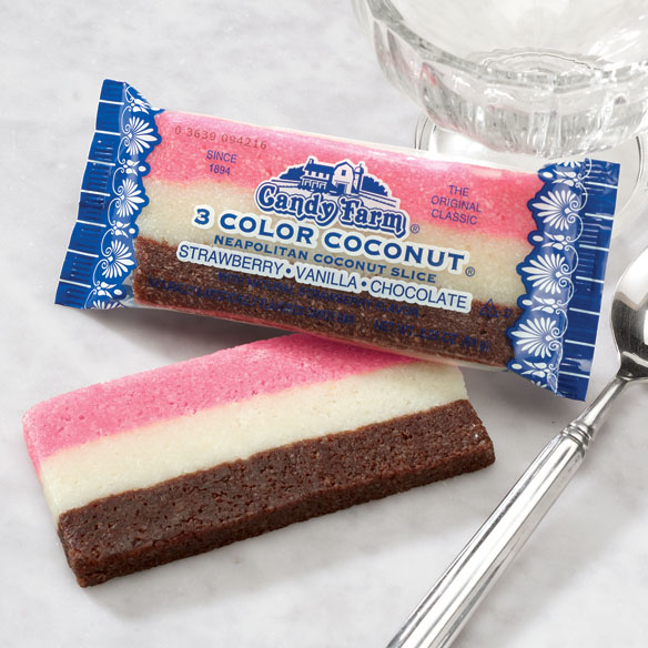 Neopolitan Coconut Rainbow Bar, Set of 2