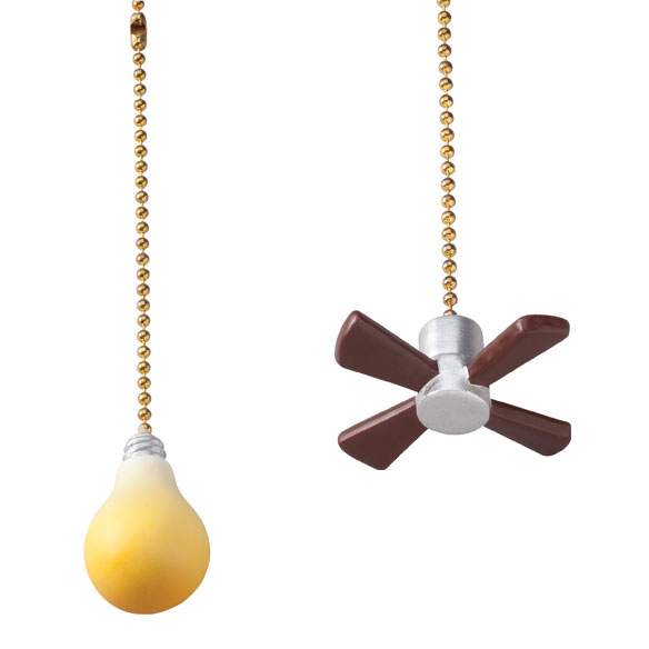 Fan & Light Pulls, Set of 2