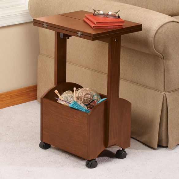 Rolling Folding Side Table by OakRidge Accents™ - View 1