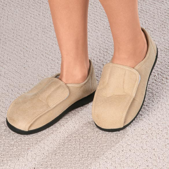 Easy-On Soft Memory Foam Slippers - View 1