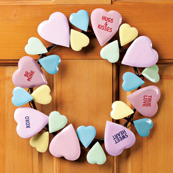 Conversation Heart Wreath by Maple Lane Creations™ - View 1