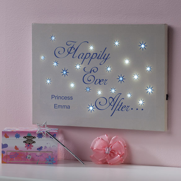 Personalized Happily Ever After Lighted Canvas