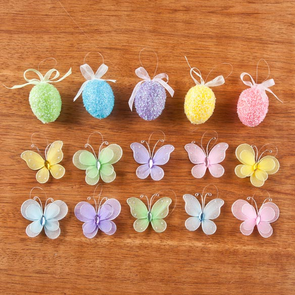Easter Ornaments, Set of 15