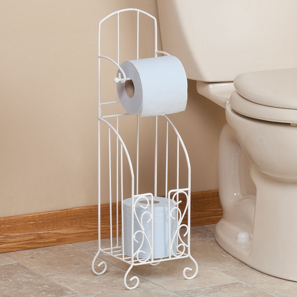 Toilet Paper Stand with Storage by OakRidge Accents™