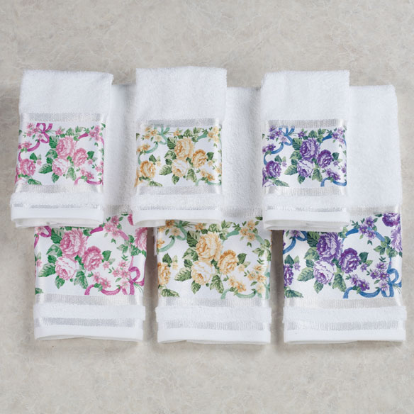 Ribbons and Roses Printed Towels