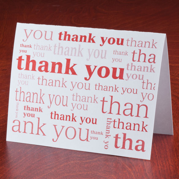 Many Thanks Note Cards, Set of 25 - View 1