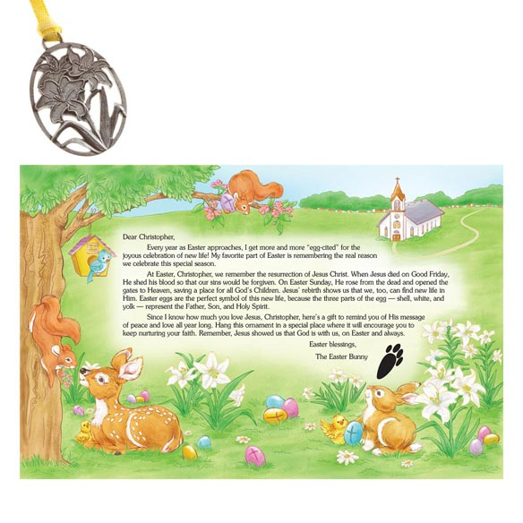 Personalized Religious Letter and Gift from the Easter Bunny