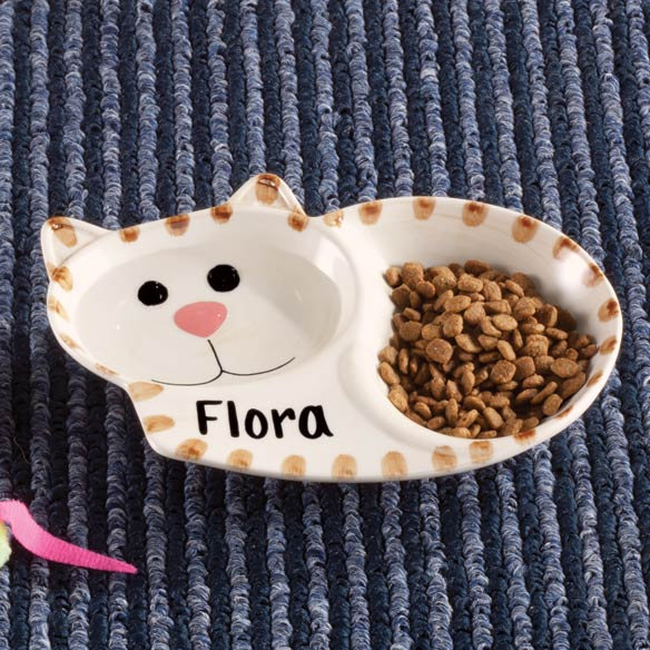 Personalized Ceramic Cat Dish - View 1