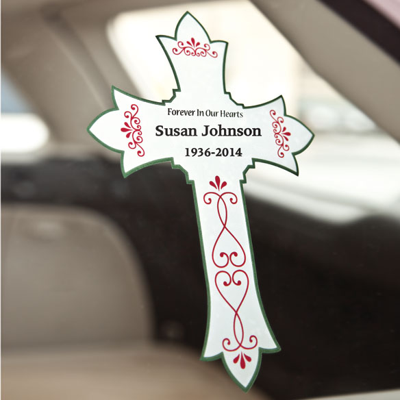 Personalized Memorial Window Cling