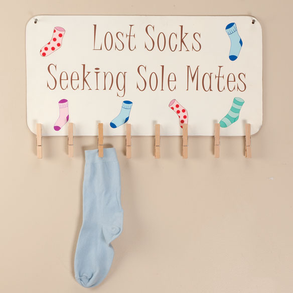 Lost Sock Sign with Storage