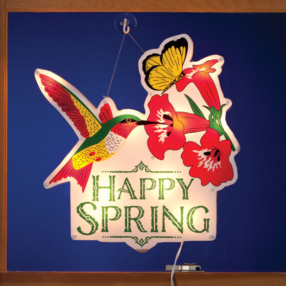 """Happy Spring"" Shimmer Light by Northwoods Illuminations™"
