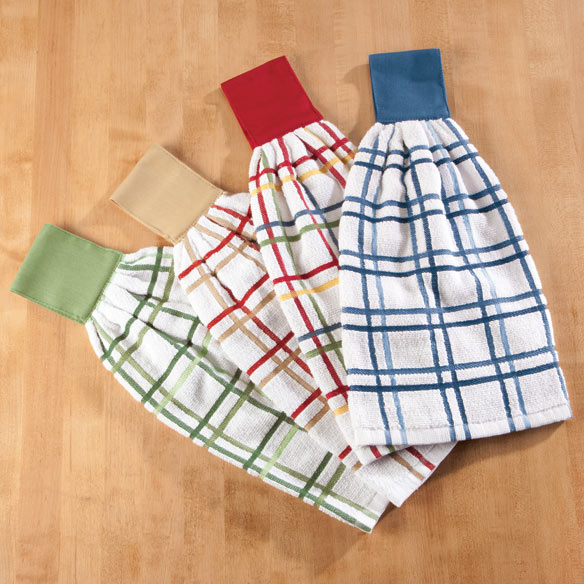 Cotton Hanging Towels - Checked