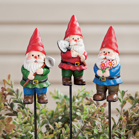 Gnome Planter Stakes by Maple Lane Creations™ - Set of 3