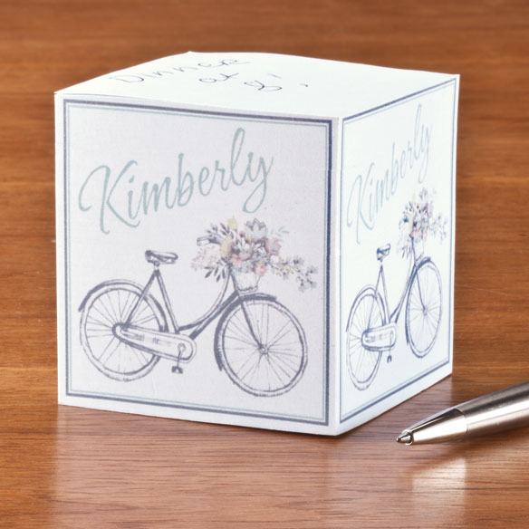 Personalized Bicycle Self-Stick Note Cube
