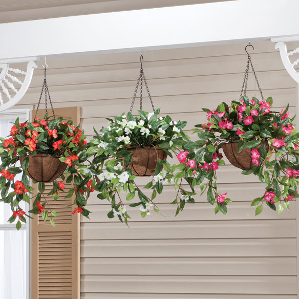 Fully Assembled Impatiens Hanging Basket - View 1
