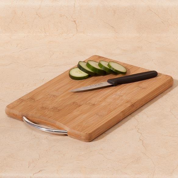 Bamboo Cutting Board with Handle, 8x12