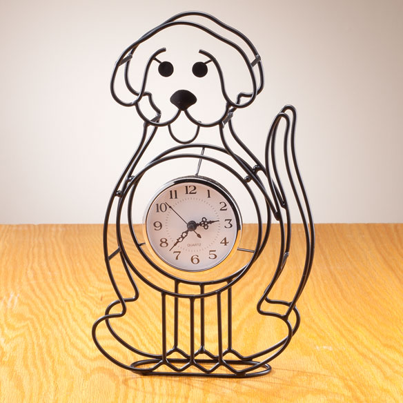 Dog Tabletop Clock - View 1