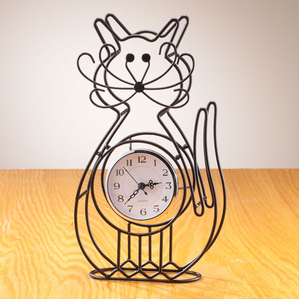 Cat Tabletop Clock
